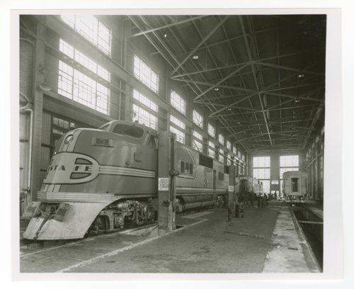 Atchison, Topeka & Santa Fe Railway Company's diesel shop - Page