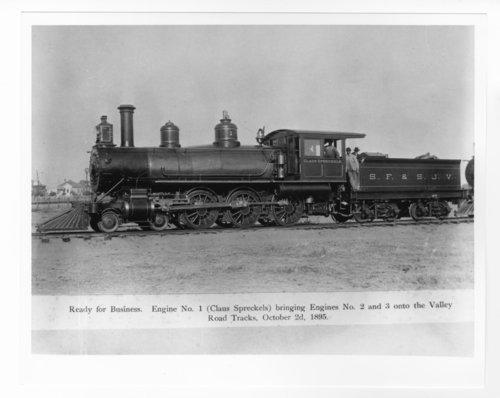 San Francisco & San Joaquin Valley Railway Company's steam locomotive Claus Spreckels - Page