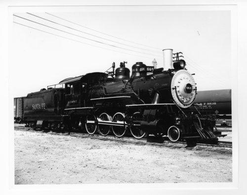 Atchison, Topeka & Santa Fe Railway Company's steam locomotive #664 - Page
