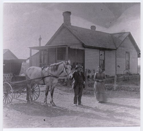 Edward Cartwright and Susanna Perks Cartwright in Brookville, Kansas - Page