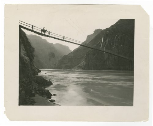 Suspension bridge, Grand Canyon, Arizona - Page