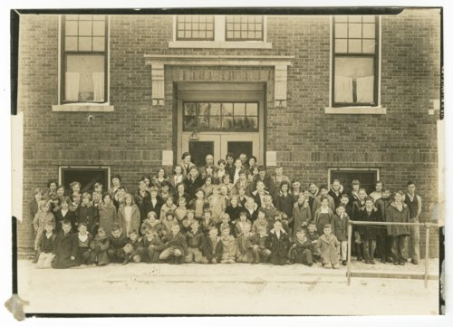 School children in Overbrook, Kansas - Page
