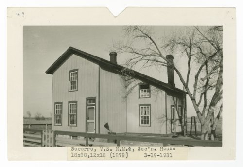 Atchison, Topeka & Santa Fe Railway Company section house, Socorro, New Mexico - Page