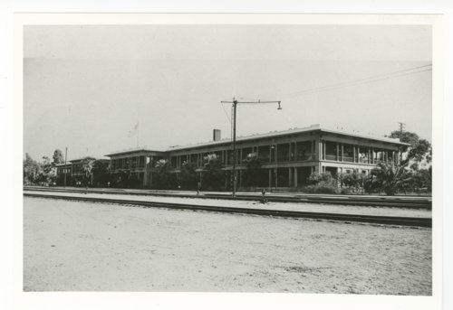 Atchison, Topeka & Santa Fe Railway Company depot, Fred Harvey House and El Garces Hotel - Page