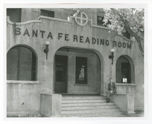 Atchison, Topeka & Santa Fe Railway Company's reading room, Winslow, Arizona - Page