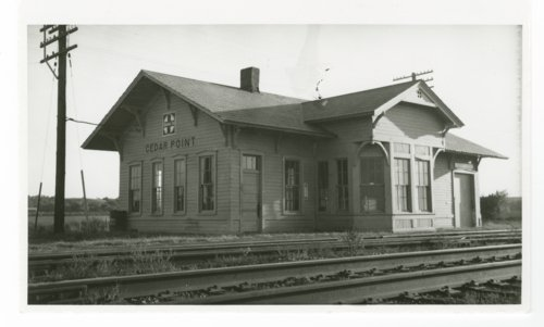 Atchison, Topeka and Santa Fe Railway Company depot, Cedar Point, Kansas - Page