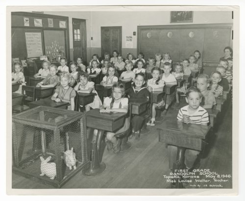 First grade at Randolph School in Topeka, Kansas - Page