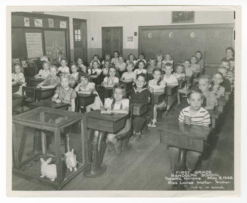 First grade at Randolph School in Topeka, Kansas - Page