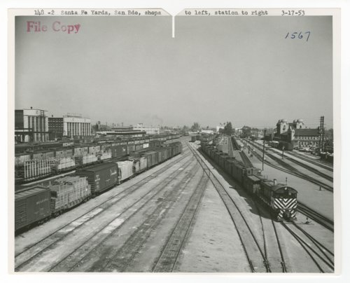 Atchison, Topeka & Santa Fe Railway's rail yards in San Bernardino, California - Page