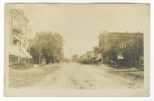 View of Broadway street looking east in Larned, Kansas - Page