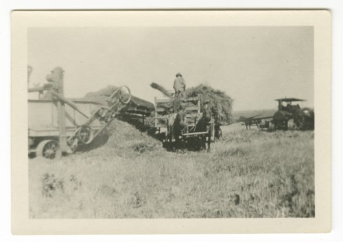 Harvest scenes possibly taken in Shawnee County, Kansas - Page
