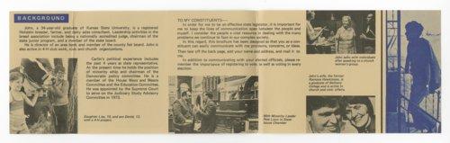 Campaign brochure for John William Carlin - Page