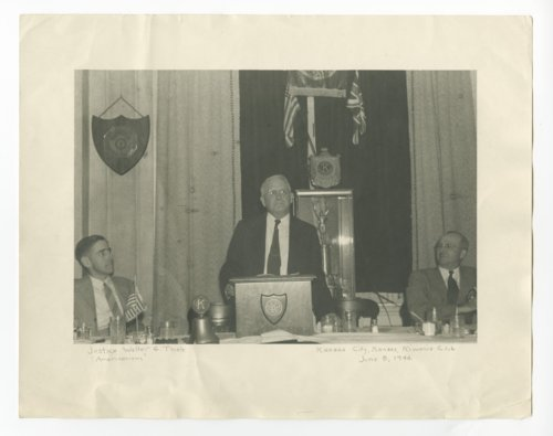 Justice Walter G. Thiele at a Kiwanis Club meeting in Kansas City, Kansas - Page