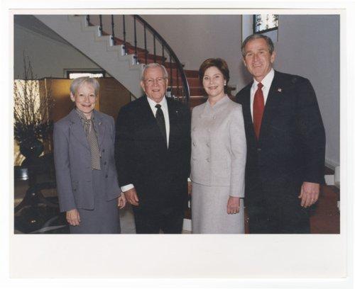 Nancy Landon Kassebaum Baker, Ambassador Howard Baker, Laura Bush and President George Bush - Page