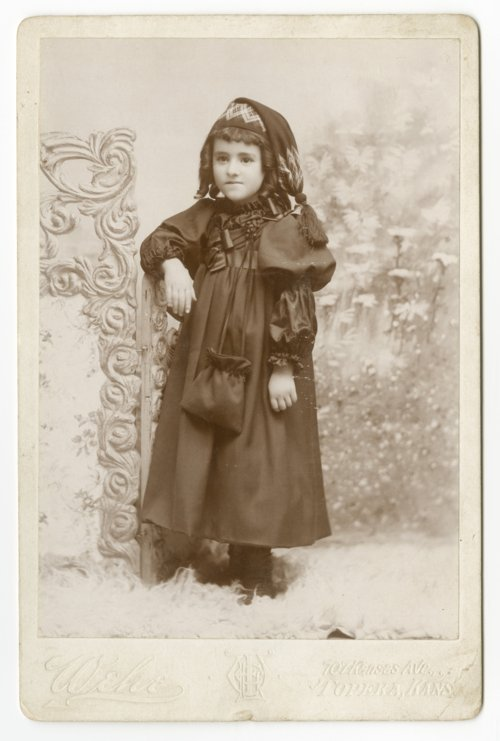 Unidentified young girl in Topeka, Kansas - Page