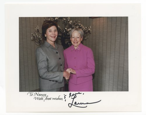 Nancy Landon Kassebaum Baker with President George Bush and Laura Bush - Page