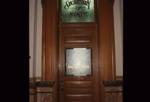 Secretary of State's office at the Kansas Capitol - Page