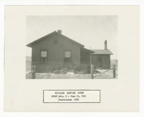Atchison, Topeka & Santa Fe Railway Company's section house, Williams, Arizona - Page