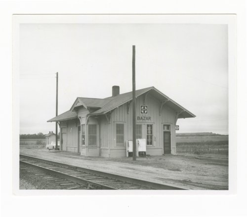 Atchison, Topeka and Santa Fe Railway Company depot, Bazaar, Kansas - Page