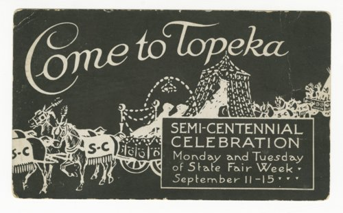 Semi-centennial celebration in Topeka, Kansas - Page