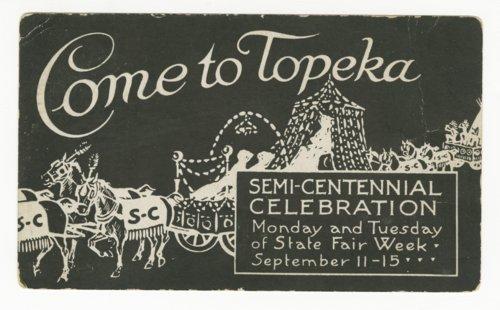 Semi-centennial celebration in Topeka, Kansas - Page