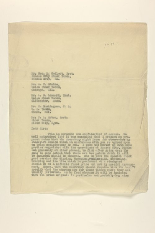 Livestock Sanitary Commissioner's Office, correspondence, 1919-1924 - Page