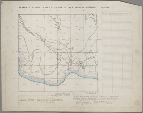 Surveyors' plat of Kansas Territory - Page