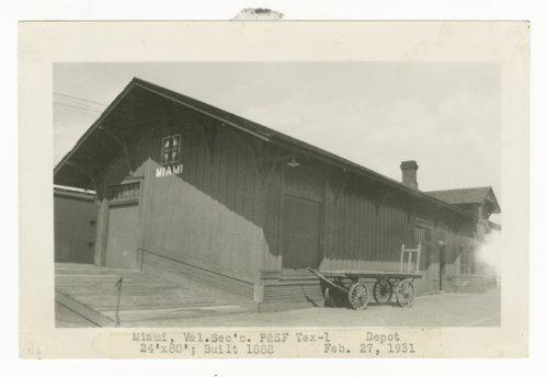 Atchison, Topeka & Santa Fe Railway Company depot, Miami, Texas - Page