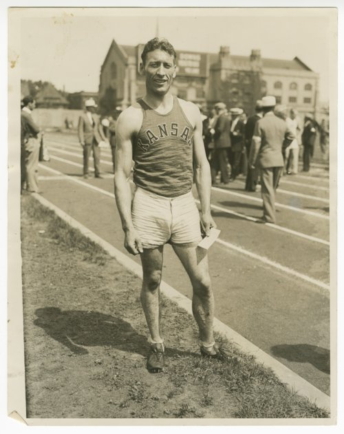Glenn Cunningham at a track meet possibly in Milwaukee, Wisconsin - Page