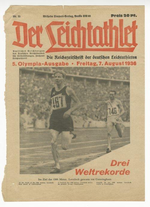 Der Leichtathlet magazine cover, August 7, 1936 - Page