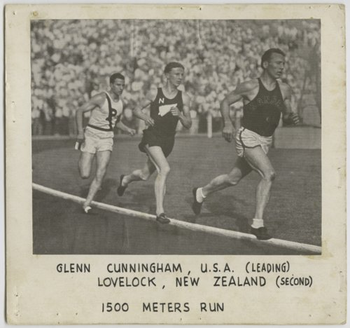 Glenn Cunningham, Jack Lovelock, and Bill Bonthron racing at Princeton University - Page