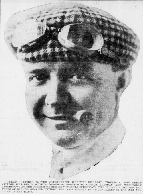 Barney Oldfield race car driver copied from the Wichita Beacon - Page