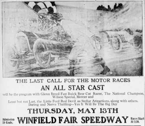 Last call for the motor races at the Winfield Fair Speedway in Winfield, Kansas - Page