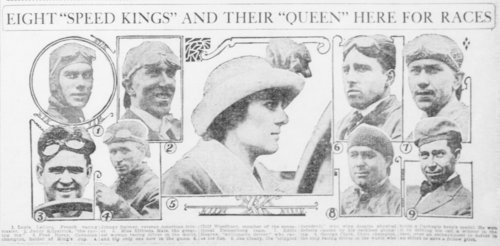 "Eight ""Speed Kings"" and their ""Queen"" here for races - Page"