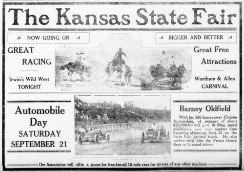 Kansas State Fair advertisement from the Hutchinson Gazette - Page