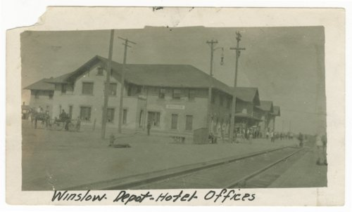Atchison, Topeka & Santa Fe Railway Compay depot and hotel, Winslow, Arizona - Page