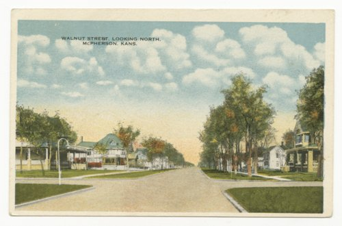 Walnut Street looking north in McPherson, Kansas - Page