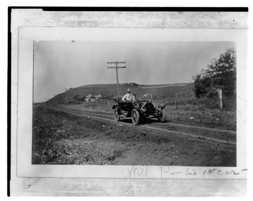 Will Penny driving his first automobile near Cottonwood Falls, Kansas - Page