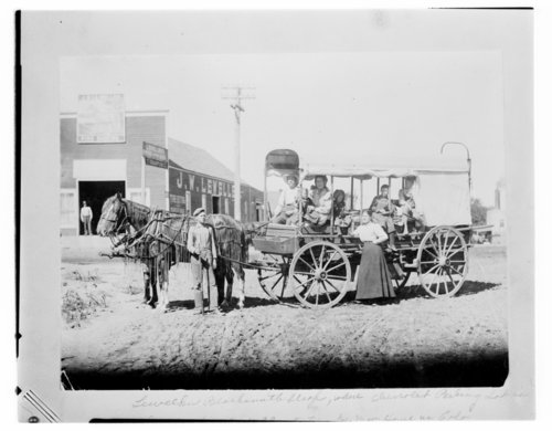Covered wagon, Minneapolis, Kansas - Page