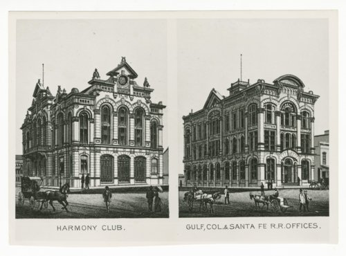 Harmony Club & Gulf, Colorado & Santa Fe Railroad offices, Galveston, Texas - Page