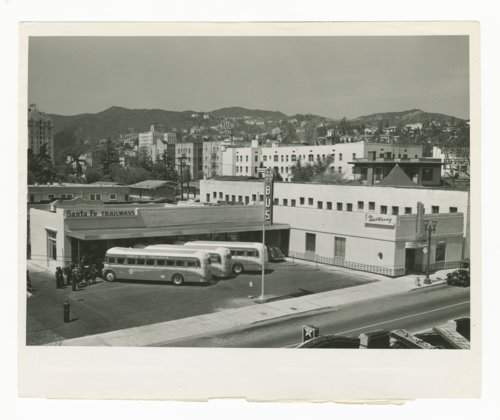 Atchison, Topeka & Santa Fe Railway Company bus station & Fred Harvey Restaurant, Los Angeles, California - Page