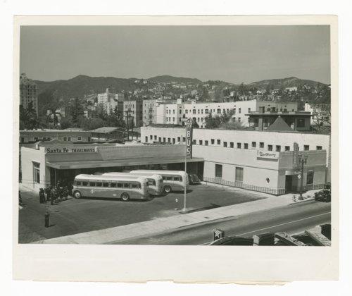 Atchison, Topeka & Santa Fe Railway Company bus station & Fred Harvey Restaurant, Los Angeles, California - Page