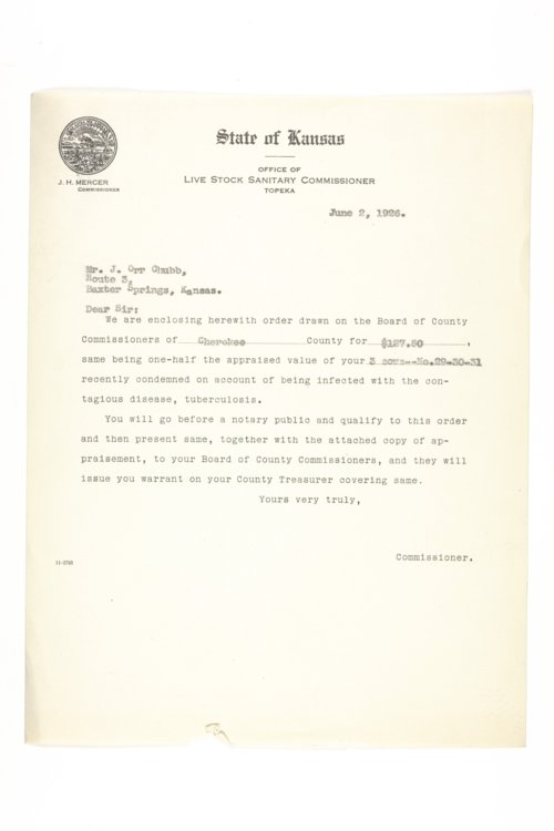 Livestock Sanitary Commissioner's Office, correspondence, 1926-1929 - Page