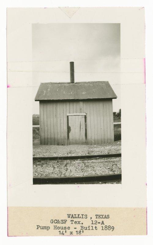 Gulf, Colorado & Santa Fe Railway Company's pump house, Wallis, Texas - Page