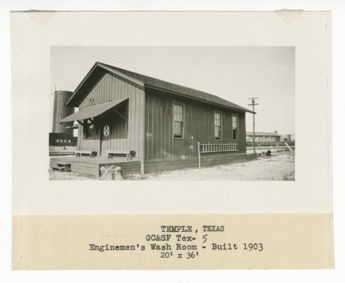 Gulf, Colorado & Santa Fe Railway Company's engineers' wash room, Temple, Texas - Page