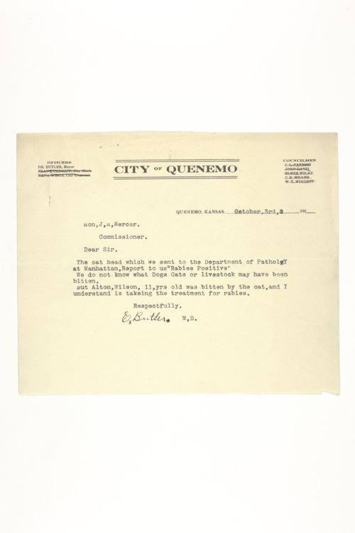 Livestock Sanitary Commissioner's Office, correspondence, 1929-1939 - Page