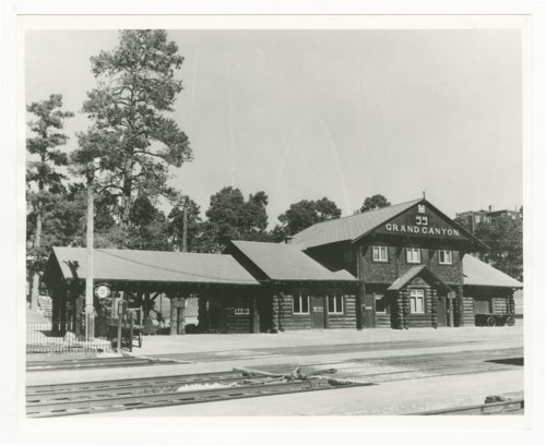 Atchison, Topeka & Santa Fe Railway Company's Grand Canyon Station, Arizona - Page