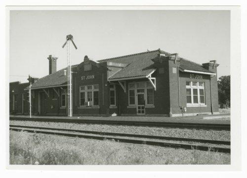 Atchison, Topeka and Santa Fe Railway Company depot, St. John Kansas - Page
