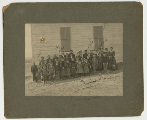 Students and teacher at a school in Allison Township, Decatur County, Kansas - Page