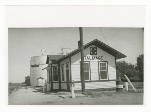 Atchison, Topeka & Santa Fe Railway Company depot, Talmage, Kansas - Page